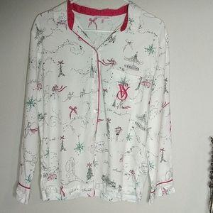 Victoria's Secret Christmas Flannel Pajamas Small